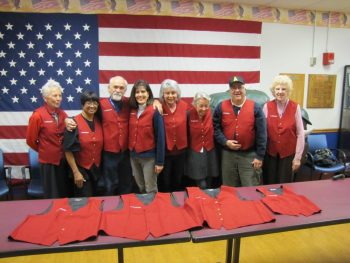 A group of Red Coat Ambassadors at the Buffalo, New York VA.