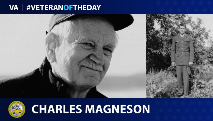 Veteran of the Day graphic for Charles Magneson