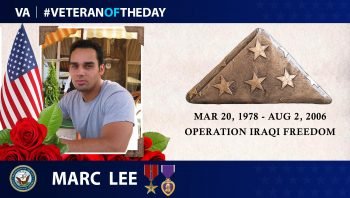 Veteran of the Day graphic for Marc Lee.