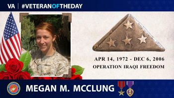 #VeteranoftheDay Megan McClung