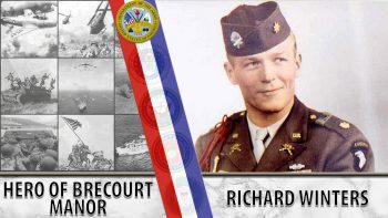 A Veterans Story graphic for Richard Winters