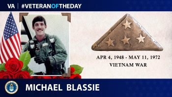 Veteran of the Day graphic for Michael Blassie