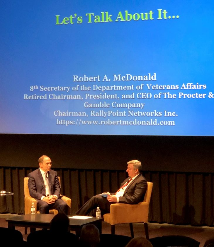 Bob McDonald talks VA and community care during his Q & A session portion of the conference.