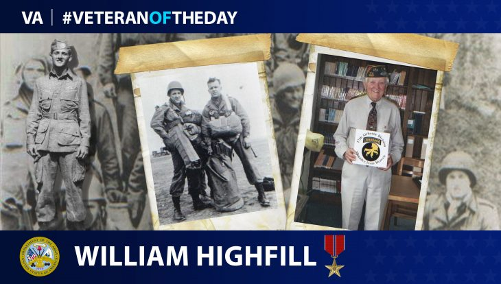 Veteran of the Day graphic for William Highfill