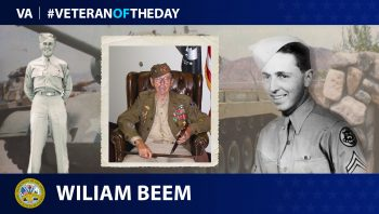 Veteran of the Day graphic for William Beem.