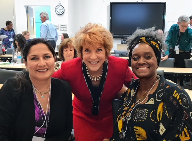 Dr. Lynda Davis, Chief Veterans Experience Officer meets with women Veterans and caregivers in Las Vegas.