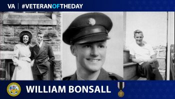 Army Veteran William Bonsall is today's Veteran of the Day.