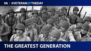 Veteran of the Day graphic for all Veterans of WWII and D-Day.