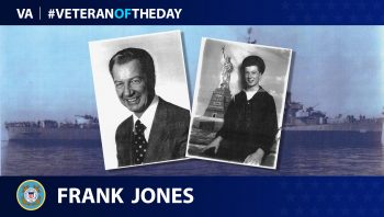 Veteran of the Day graphic for Frank Jones.