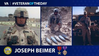 Joseph Beimfohr served in the Iraq War.