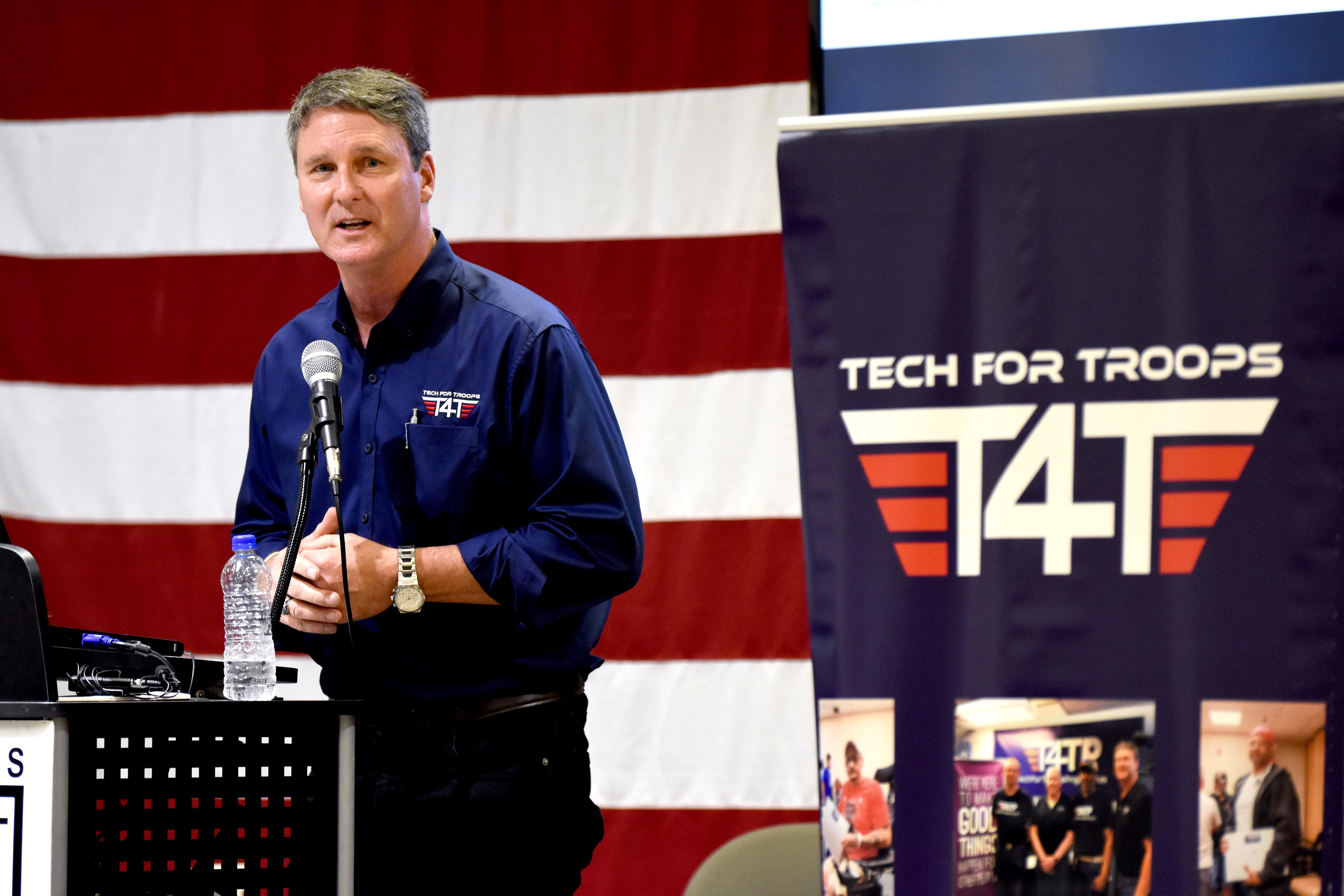 Tech for Troops helping to reintegrate homeless Veteran into productive society.