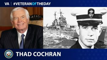 Veteran of the Day graphic for Thad Cochran.