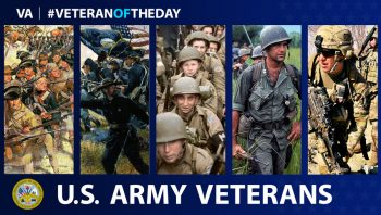 Picture showing army Veterans from various eras.
