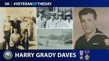 Navy Veteran Harry Grady Daves, Jr., served during WWII.