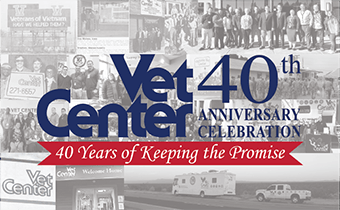 vet center graphic celebrating 40th anniversary