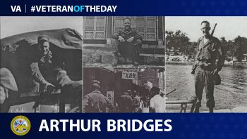 Arthur Bridges is today's Veteran of the Day.