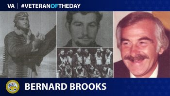 Today's Veteran of the Day is Bernard Brooks.