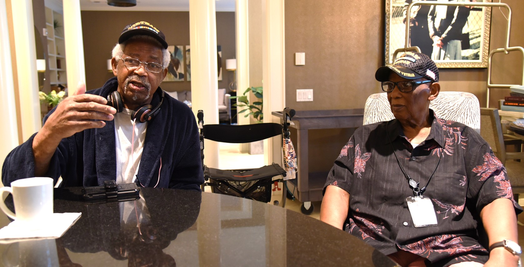 Two Veterans battle cancer with help from Fisher House.