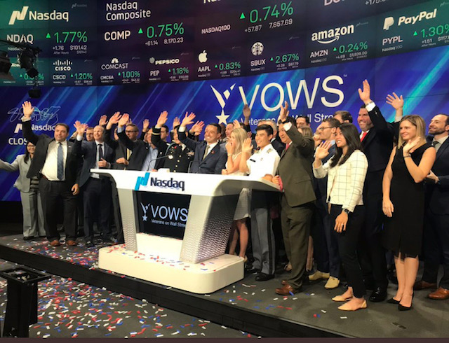 VOWS Nasdaq Closing Bell was on July 3rd.