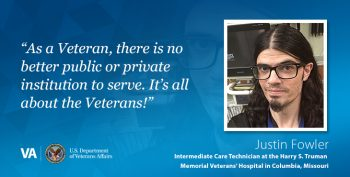 VA Intermediate Care Technician Justin Fowler