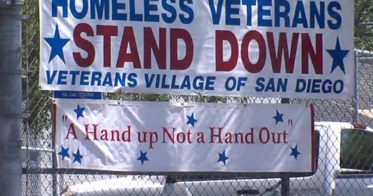 Banner at the 2019 Stand Down in San Diego, California.