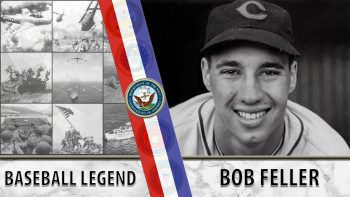 Bob Feller was a legend on the baseball diamond--and in the Navy.