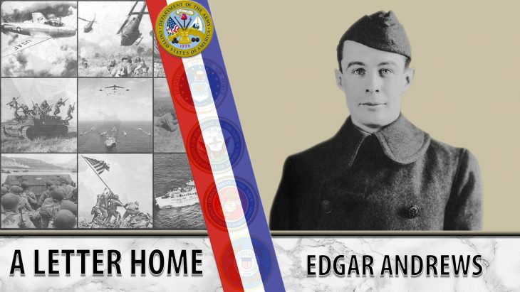 Edgar Andrews wrote many letters home from the Western Front.