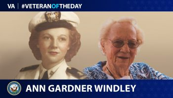 Ann Gardner Windley is today's Veteran of the Day.