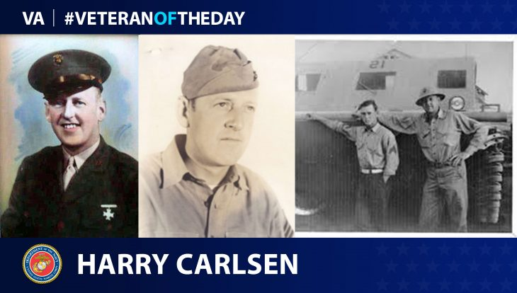 """Harry """"Bud"""" Carlsen is today's Veteran of the Day."""