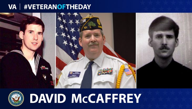 David McCaffrrey is today's Veteran of the Day.