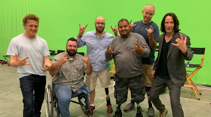 Keanu Reeves, Alex Winter with wounded Veterans