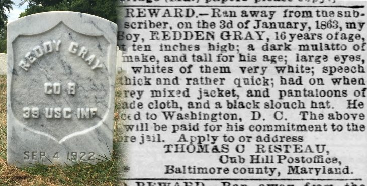 Gray's Headstone and Clipping from the Baltimore Sun.