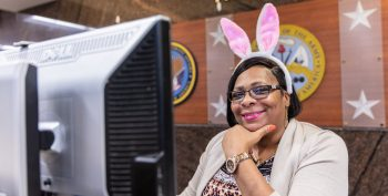 VA employees find fun at the office while serving Veterans.