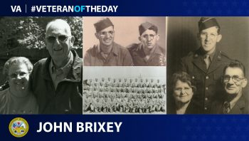 John Brixey is today's Veteran of the Day.