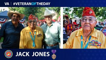 Jack Jones is today's Veteran of the Day.