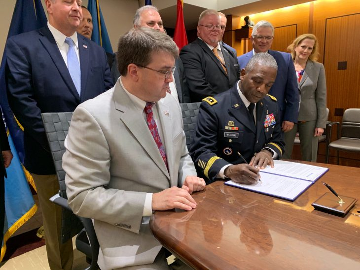 VA and DLA signed an agreement for materiel support.