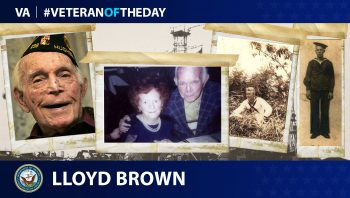 Lloyd Brown is today's Veteran of the Day.