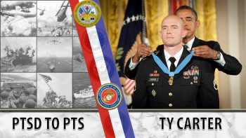 Ty Carter was awarded the Medal of Honor for actions in Afghanistan.