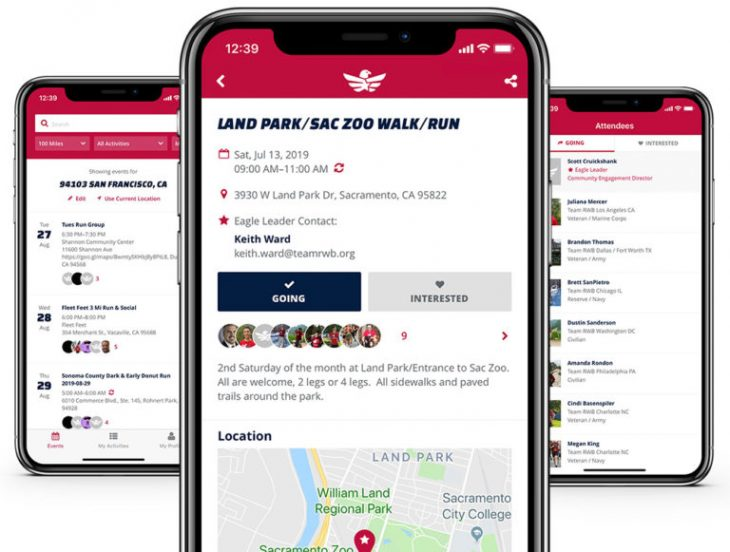 Download Team RWB's new app to find free local events.
