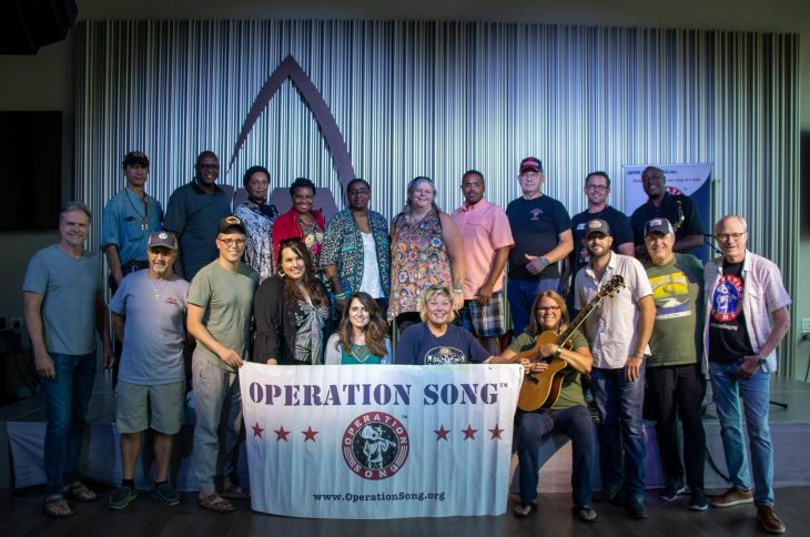 In August, a group of Veterans at Operation Song retreat.