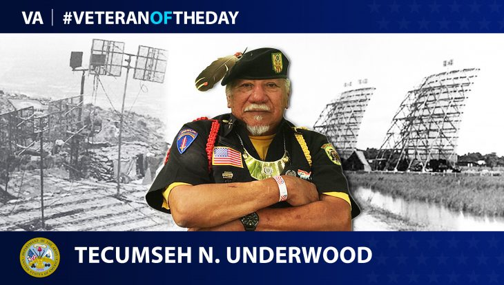 Army Veteran Tecumseh Nathaniel Underwood is today's Veteran of the Day.