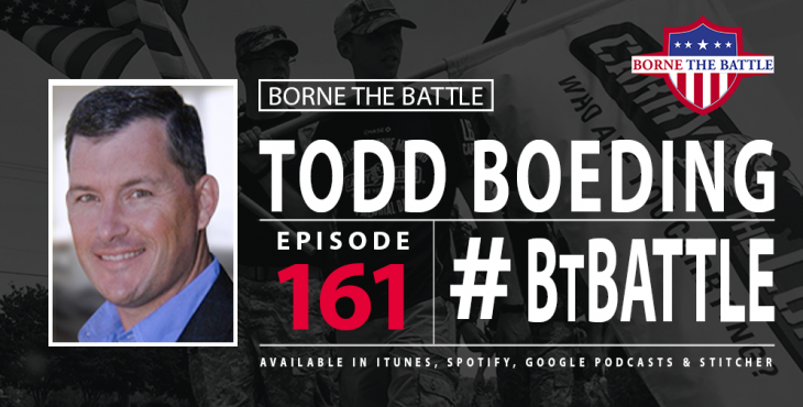 Todd Boeding is this week's guest on Borne The Battle., talking about Carry the Load.