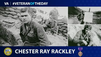 Army Veteran Chester Ray Rackley is today's Veteran of the Day.