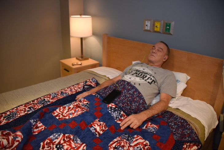 Weekly yoga nidra sessions help some Veterans fight stress.