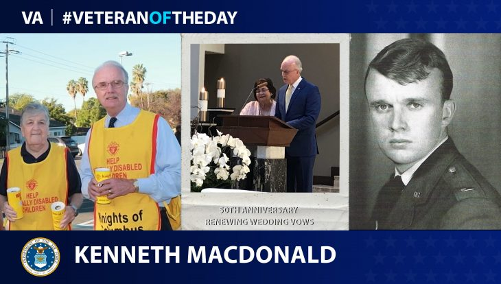 Air Force Veteran Kenneth C. Macdonald is today's Veteran of the Day.