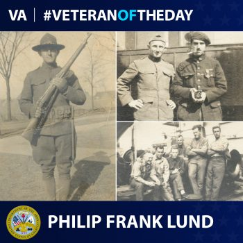 Army Veteran Philip Frank Lund is today's Veteran of the Day.