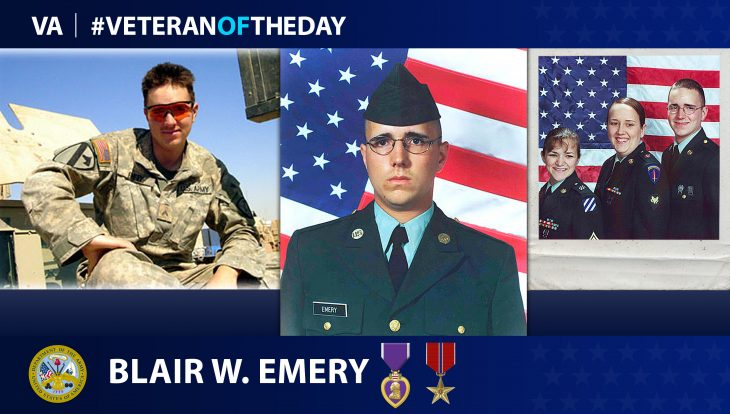 Army Veteran Blair William Emery is today's Veteran of the Day.