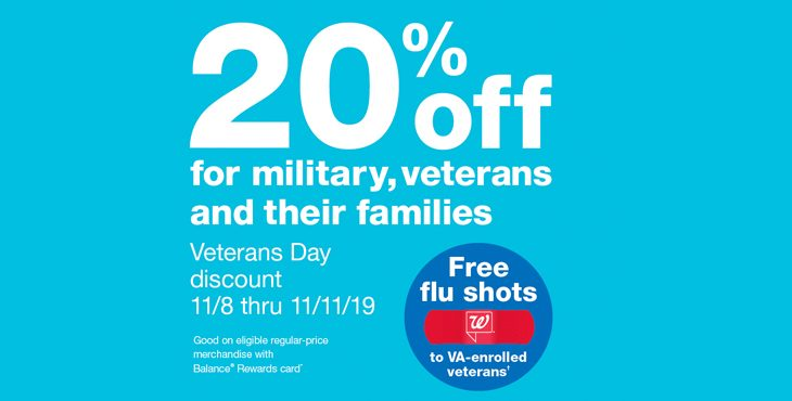 Walgreens Veterans Day Discount and Flu Shot