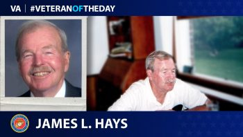 Marine Corps Veteran James Lawrence Hays is today's Veteran of the Day.
