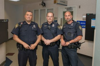 Milwaukee VA Police Officers (left to right) Joseph Tripp, Christopher Zimmermann and Glenn Stritchko
